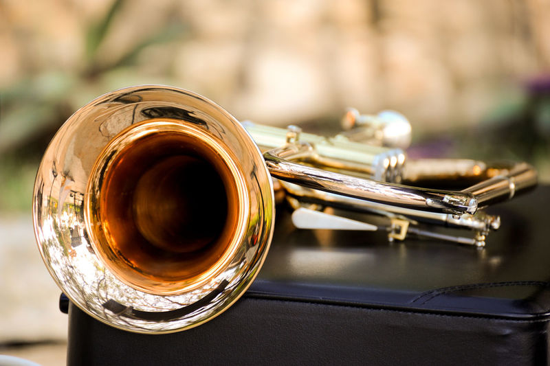 A close-up to a trumpet that i shot during a weding. Close-up Gold Gold Colored Jazz Music Music Musical Instrument No People Trumpet