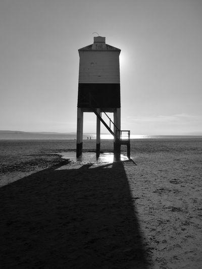 Burnhamonsealighthouse Burnham On Sea Beach Beachphotography Longshadows Sunnyday☀️ Summertime Beachwalk
