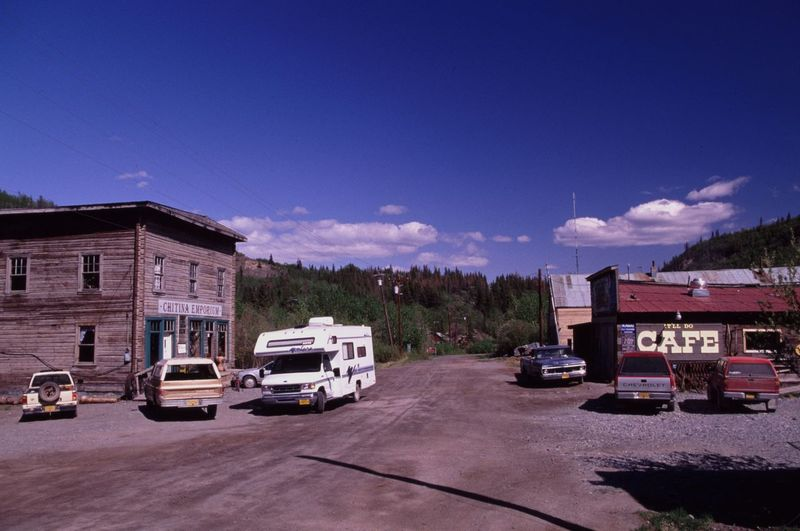 Alaska Architecture Building Exterior Built Structure Car Chitina Day Land Vehicle Mode Of Transport Neighborhood Map No People Outdoors Road Sky Stationary Transportation Tree