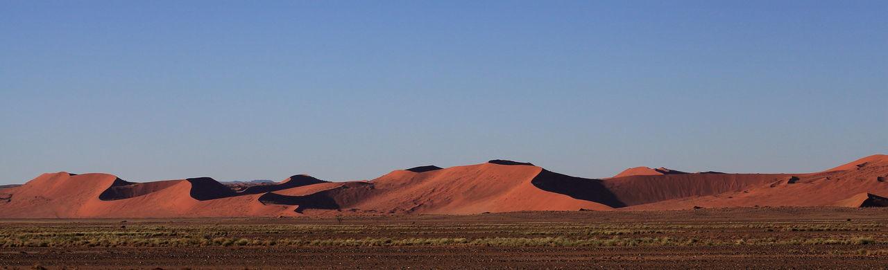Namibia desert, Namibia Arid Climate Arid Landscape Geology Horizon Over Land Idyllic Landscape Morning In The Desert Morning Light Mountain Range Namib Desert Namib Dunes Namibia Physical Geography Rock Formation Sand Dunes Sunrise In The Desert Tourism Tranquil Scene Travel Destinations