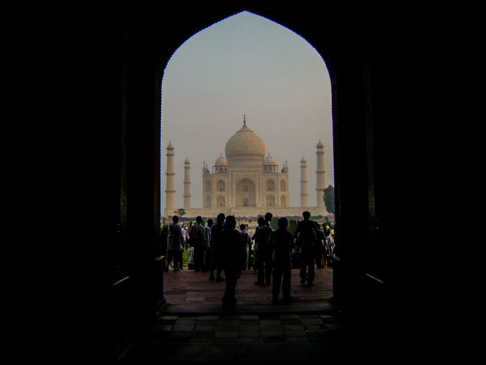 Agra India Living The Dream Mother India Sunrise Taj Mahal Temple View Through A Door Connected By Travel