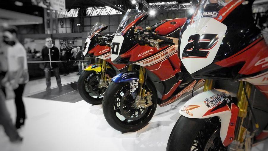 Trio of Honda Motorcycles Racing Motorcycle Motorbike Honda Cbr Cbr