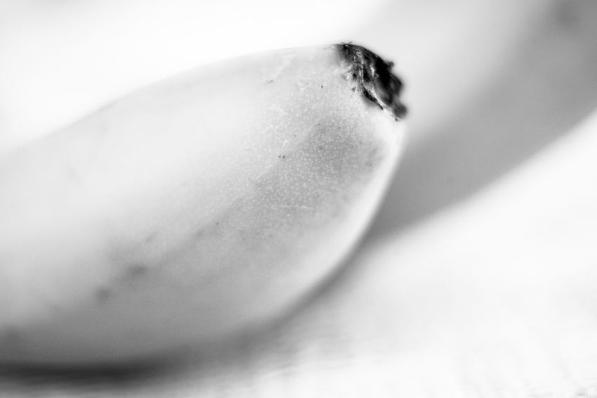 The banana Black And White Light And Shadow Monochrome Banana No People Close-up Freshness Food Indoors  Fruit Healthy Eating Nature Day White Background