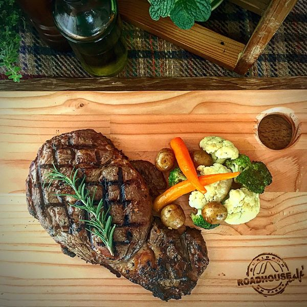 Grilled Ribey Steak! 😋 Vegetable Food And Drink Food Indoors  No People Ready-to-eat Day Plate Meat Indulgence Steak Ribeye Steak Grilled