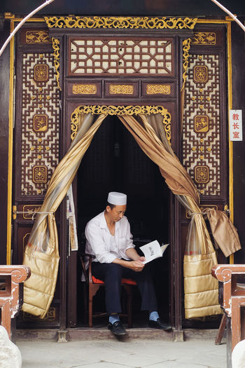 Muslim street, Xian China Adult Adults Only Architecture Armchair Arts Culture And Entertainment Author Day Front View Full Length Indoors  Mansion Men Millionnaire Music Musical Instrument Musician One Man Only One Person One Senior Man Only Only Men People Senior Adult Senior Men Sitting Snap a Stranger Who What Where