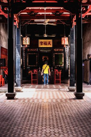 Malaysia Standing One Person Fujifilm X-pro2 35mm F2 Chinese Temple In Jonker Street Melaka
