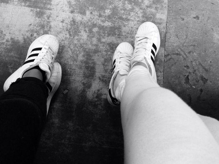 Superstars Adidasoriginals Bestfriends Thebestcombination Blackandwhite