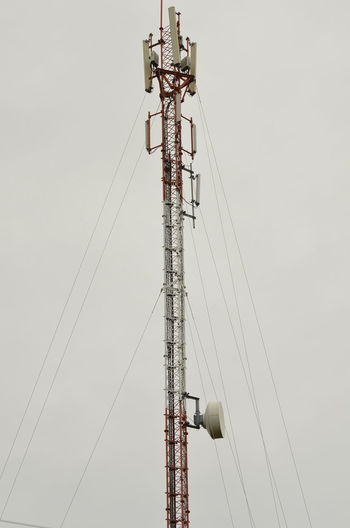 Low Angle View Technology Sky Connection Day Metal Tall - High Cable Built Structure No People Architecture Industry Nature Construction Industry Clear Sky Electricity  Outdoors Communication Machinery Construction Site Power Supply Electrical Equipment