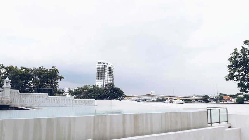 Tree Architecture Sky Skyscraper City Water Outdoors No People Tranquility Cloud - Sky Built Structure Modern Building Exterior Urban Skyline Cityscape Adayinthailand Photography Streetphotography Street Art City Architecture Street Floor Nature EyeEmNewHere The Architect - 2017 EyeEm Awards