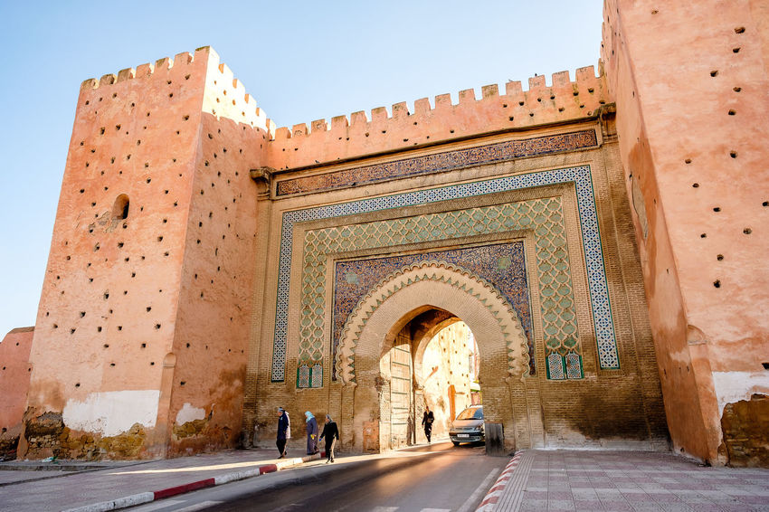 Bab El Khemis Gate Meknès Morocco Travel Arch Architecture Citywall Cultures History Outdoors Street Streetphotography Tourism Travel Destinations