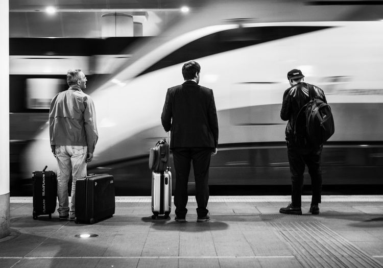Black & White Blackandwhite Candid Milan Streetphoto_bw Streetphotography Train Train Station