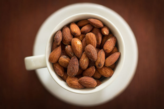 salted and roasted almonds in the cup Almond Appitizer Food Food And Drink Freshness Fruit Healthy Eating Nut - Food Roasted Almonds Salted Almond Seed Snack Still Life