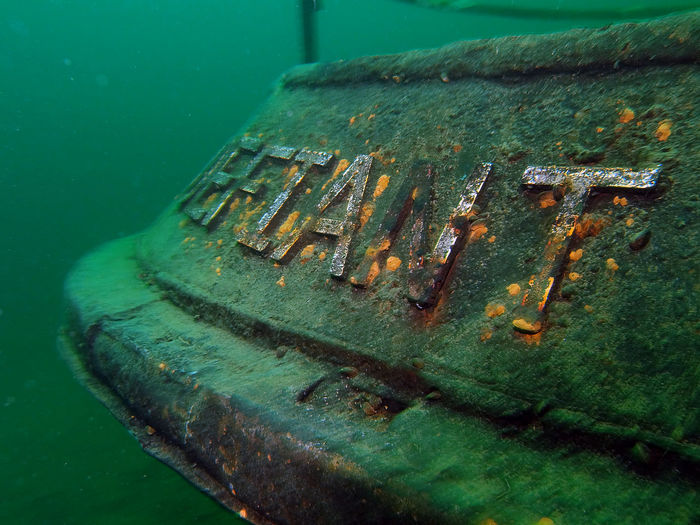 Close-up of shipwreck
