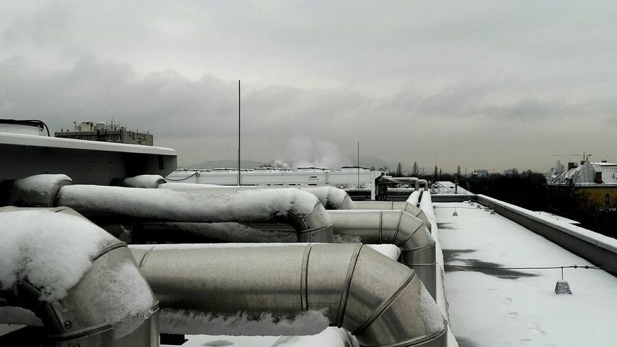 Industry Storage Tank Steel Mill No People Outdoors Day Winter