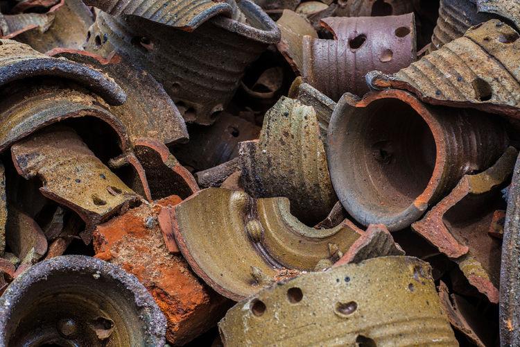 Full frame shot of rusty machine part