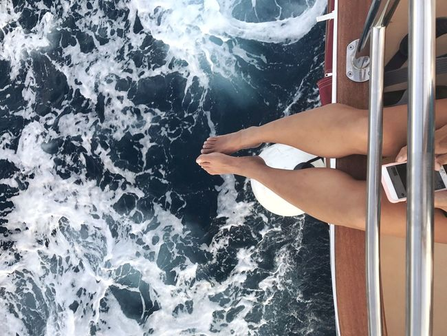 Aboard a boat island hopping around Croatia coastline Sea One Person Barefoot Leisure Activity Water Low Section Real People Vacations Lifestyles Human Leg Relaxation Outdoors Day Human Body Part Nautical Vessel Sitting EyeEm Selects Women One Woman Only One Young Woman Only The Week On EyeEm Dubrovnik Croatia Island Vacation Time Been There. Done That. Lost In The Landscape Connected By Travel