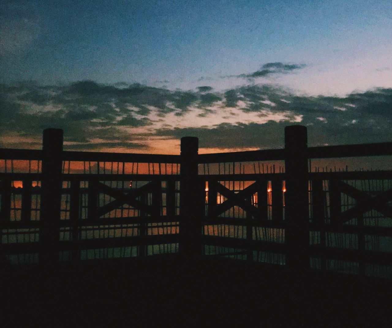 sunset, railing, silhouette, sky, dusk, architecture, built structure, outdoors, nature, no people, building exterior, city, beauty in nature, day