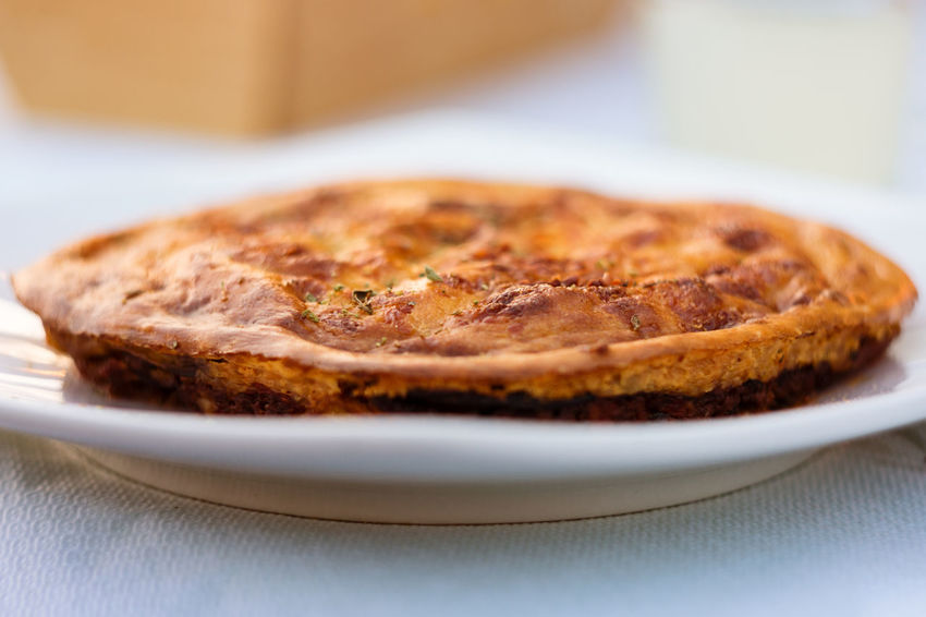 Perfectly Baked Tasty Moussaka Pie On White Plate Baked Goods Copy Space Dinner Eggplant Food And Drink Homemade Mediterranean Food Moussaka Oven Tradition Baked Casserole Cooked Food Glutenfree Greek Food Minced Meat Mussaka No People Pie Pie Crust Plate Preparation  Savory Food Sunset