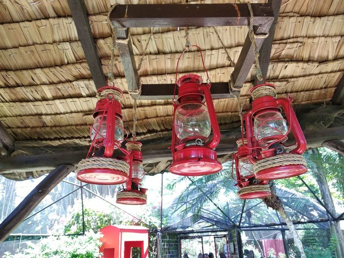 Petromax Vintage Bulb Vintage Lights Red Hanging Lantern Illuminated Built Structure Lighting Equipment Chandelier Light Bulb