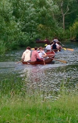 Just mucking about on the river Stour at Flatford Mill Suffolk, United Kingdom