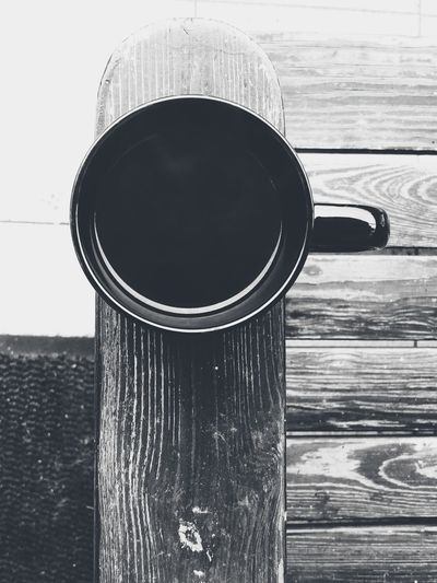 Coffee Cup Black Color Close-up No People Black And White Morning