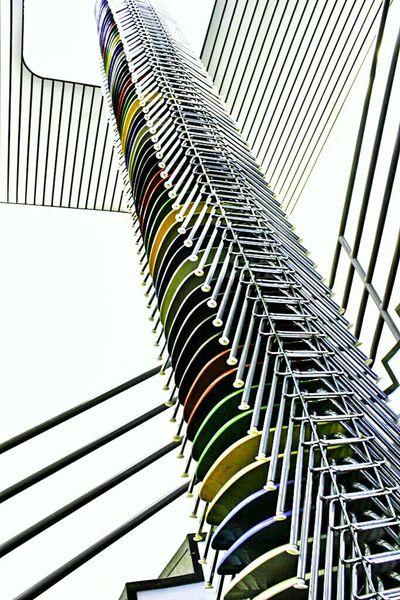 Architecture Design Vitra Interior Design Chairs Low Angle View No People In A Row Futuristic Architecture