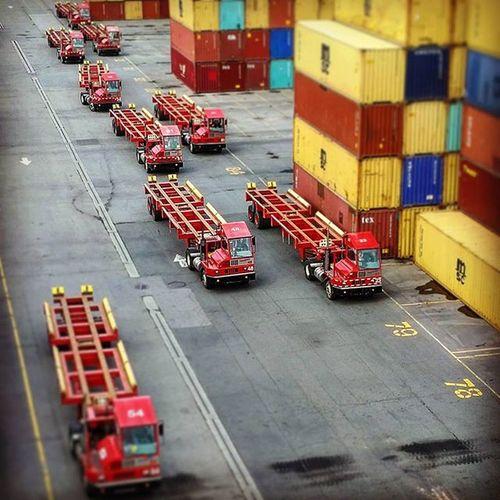 When trucks look like toys! Quand les camions ressemble à des jouets PortMTL terminal Termont Container Transport logistics maritime montreal