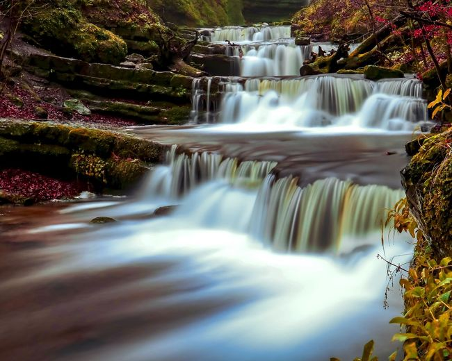 Rocks And Water Waterfalls Water Scenics - Nature Motion Long Exposure Waterfall Beauty In Nature Flowing Water Nature Blurred Motion No People Tree Flowing Falling Water