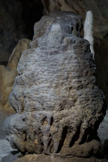 Stalactite  Ancient Civilization Beauty In Nature Cave Close-up Day Geological Geological Formation Geology Indoors  Nature No People Outdoors Rock - Object Stalacmite Stalagnate Statue Textured