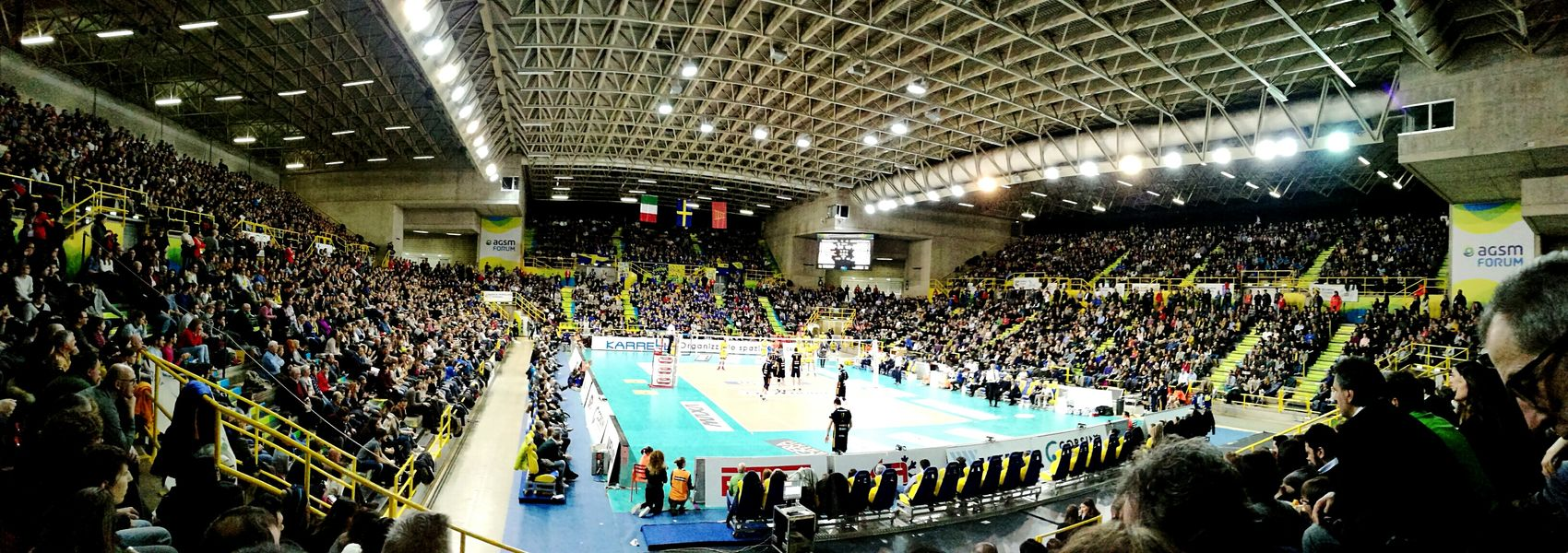 Volleyball Serie A Big Match Yellow Blue Modena Verona Sunday