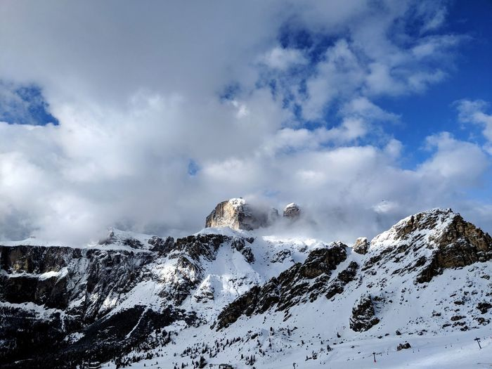 Day 2. Fresh snow has landed. Mountain Snow Cold Temperature Winter Snowcapped Mountain Rock - Object Sky Landscape Mountain Range Cloud - Sky Mountain Peak Rock Formation Dramatic Landscape Geology Majestic Rocky Mountains Deep Snow
