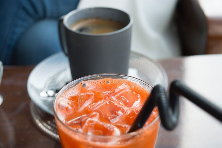 Carrot Juice Carrot Coffee Food And Drink Drink Coffee - Drink Refreshment Freshness Coffee Cup Indoors  Food Close-up Table Ready-to-eat Healthy Eating Day Morning