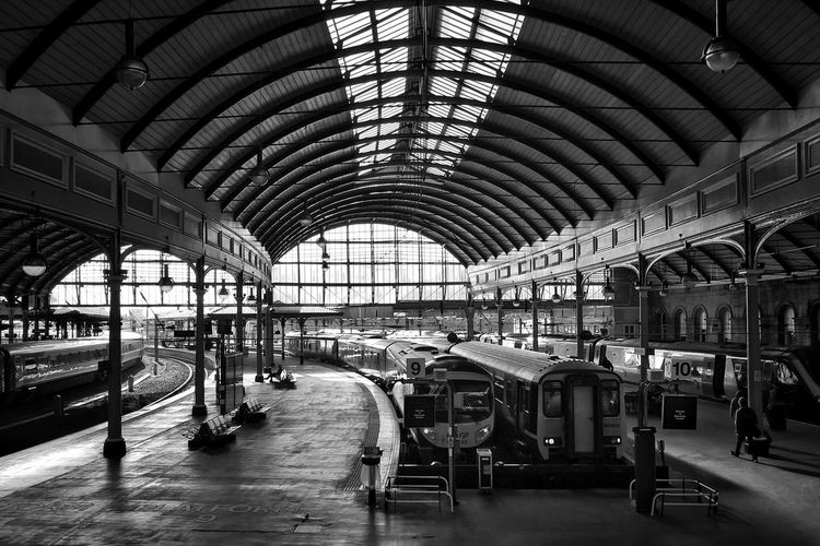Newcastle Station Iphoneonly IPhone Iphonephotography Iphonography IPhoneography Railway Train Station Bnw Blackandwhite