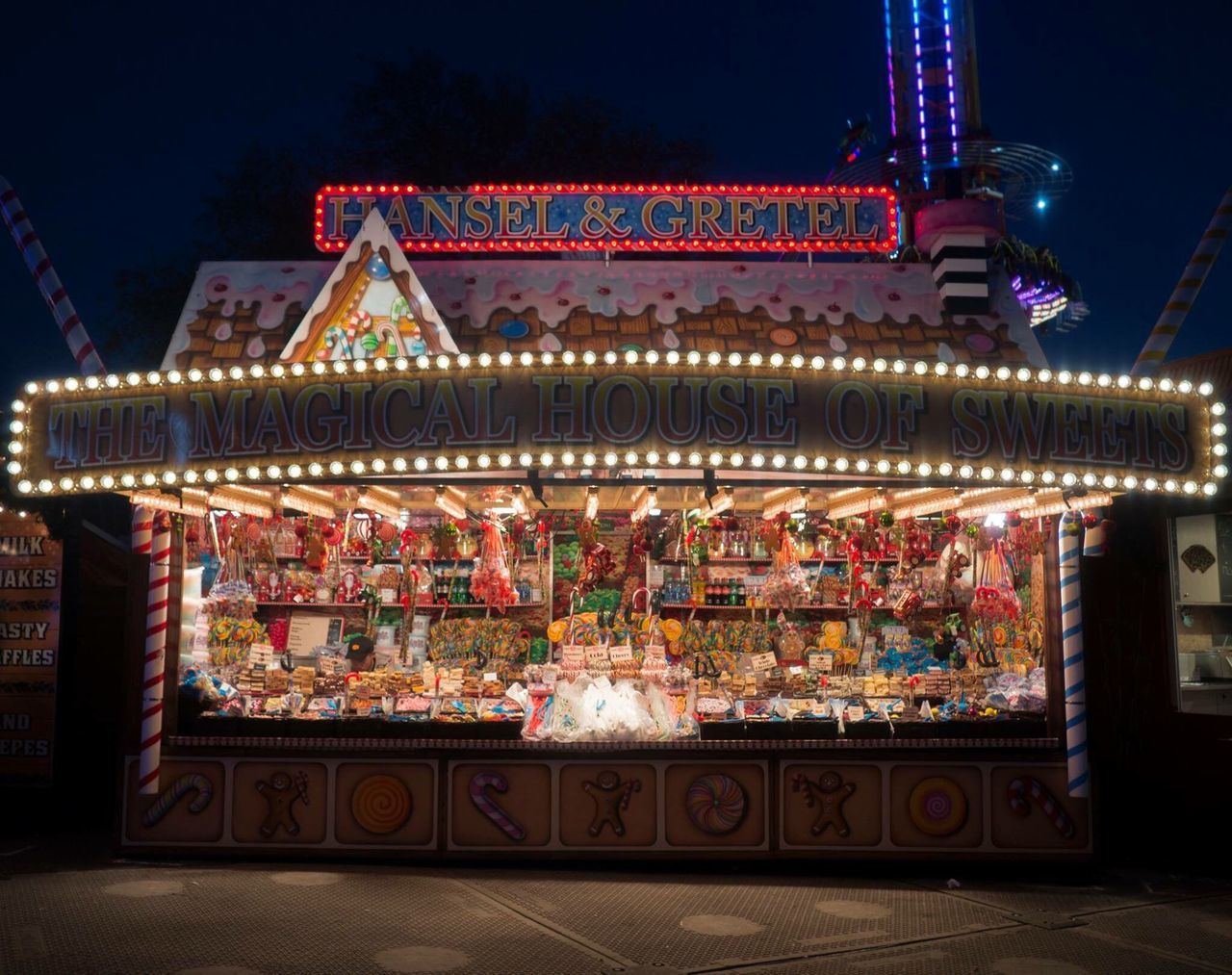 illuminated, multi colored, night, no people, arts culture and entertainment, outdoors, tree, architecture, carousel