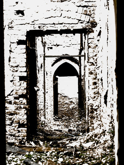 derelict Abandoned Arch Architecture Building Building Exterior Built Structure Damaged Day Deterioration Door Entrance History Nature No People Old Old Ruin Outdoors Ruined Run-down Stone Wall The Past Wall - Building Feature Weathered