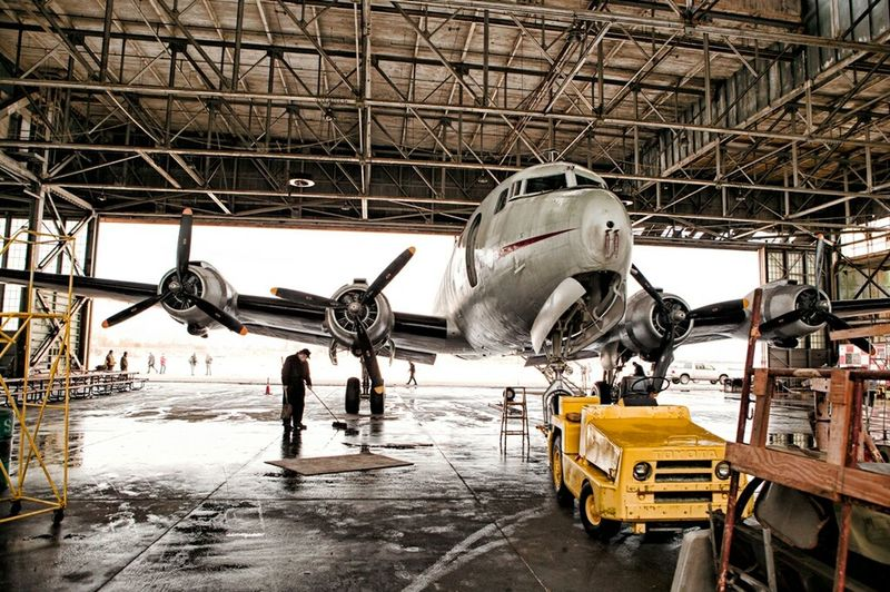 WWII Plane before take off. Plane Hangar WwII Airplane WWII Planes