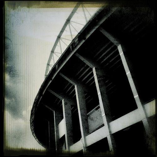 Blackandwhite Monochrome Lookingup Prater Stadion