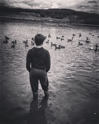 Paddling Paddle Wadding Water Wet Wellies  Wellington Boots Lake Pond Ducks Geese Swans ❤ Nature Nature Reserve