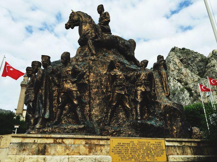Sculpture Türk Bayrağı Atatürk Taking Photos HERO Popular Photos OpenEdit EyeEm Best Shots Eye4photography  Turkey