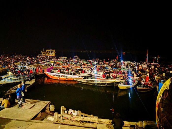 Ganga View River Resting Colorful Staystill Cityscape City Illuminated Boat Historic The Traveler - 2018 EyeEm Awards