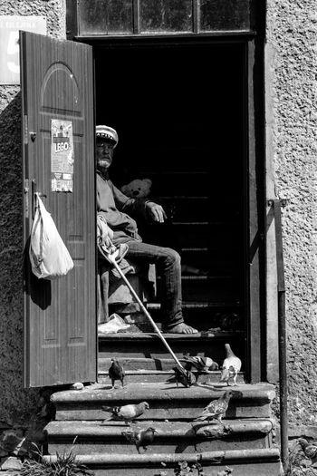 Sailor. People Real People Sailor Portrait Adult Monochrome First Eyeem Photo Monochrome Photography Blackandwhite Peoplephotography Street Time History Close Portrait Senior Men Urban