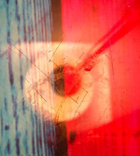 Digital composite image of glass window