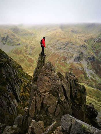 Standing Aloft The Pinnacle Absolute Stupidity On Pinnacle Ridge St Sunday Crag In The Lake District  Go Higher