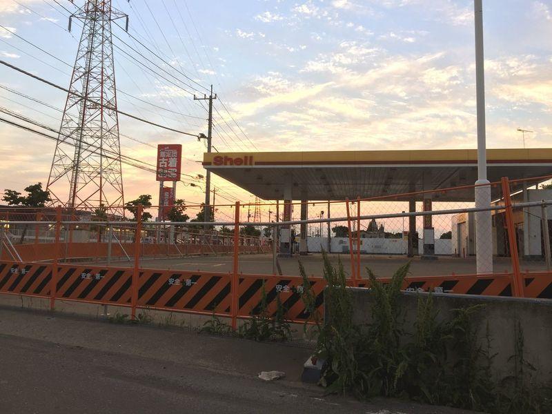 Sunset Tochigi Gasstation Nobody Ruins Streetphotography Landscape Sky Weed Roadside