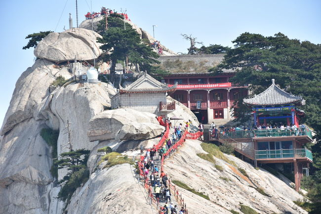 Huashan Mountain - Xi'an China Altitude Beautiful Beautiful Nature Cable Car Climbing Clouds High Huashan Mountain Mist Mountain Mountains Scenic Sky And Clouds Stairs Steps Tourist Attraction  Vacation Adventures In The City
