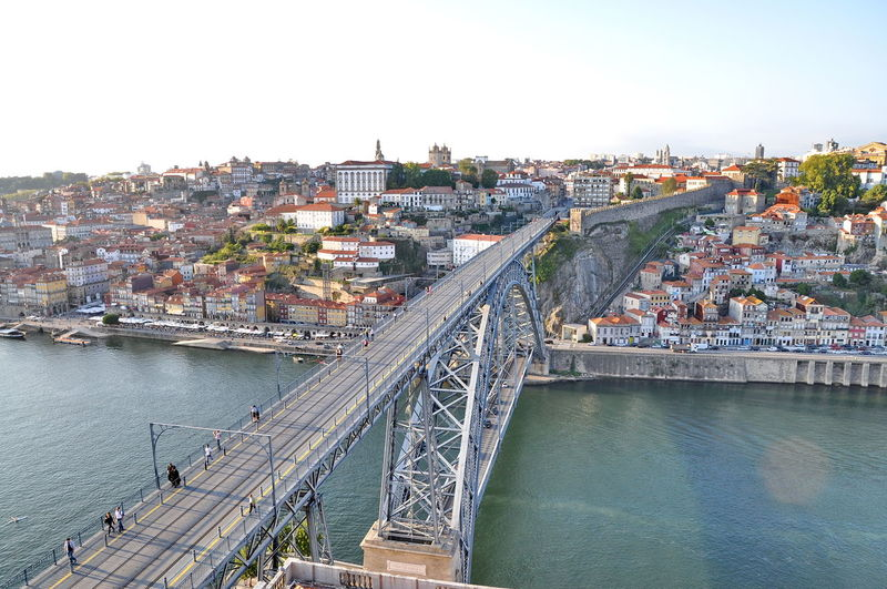 Architecture Bridge Bridge - Man Made Structure Building Exterior Built Structure Canal Capital Cities  City City Life Cityscape Connection Day Engineering No People Outdoors Porto Residential Building Residential District Residential Structure River Sky Town TOWNSCAPE Travel Destinations Water