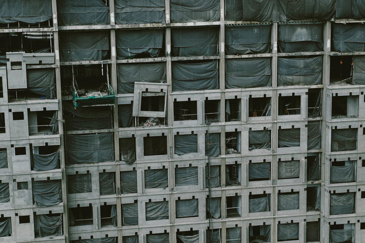 Under construction wall Construction Architecture Arcitecture Backgrounds Close-up Day Full Frame Indoors  No People Precast Concrete