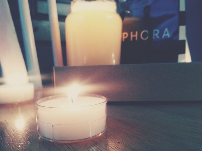 My photo ❤ Sephora Candles Fire Tea Lights