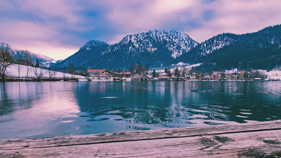 Schliersee Bavarian Alps Cloud - Sky Cold Temperature Frozen Lake Mountain Nature No People Outdoors Reflection Scenics Sky Snowcapped Mountain Tranquil Scene Water Winter