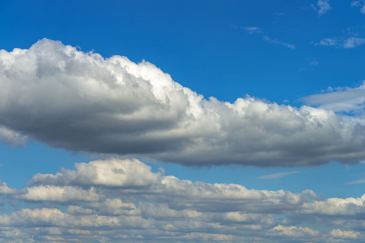 White clouds in